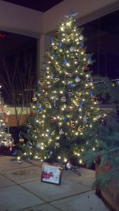 The City Region's tree is beautifully decorated with Coldwell Banker Foundation ribbons.