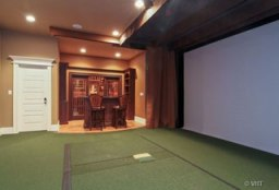 Just in time for the Masters, home for sale with a golf simulator room