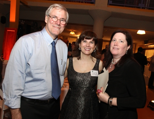 2012 gala. Left to right: Paul Selden, Executive Director of Connections; Catherine Leonard, current Board President; and Jolie Horen, Immediate Past Board President