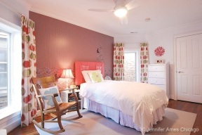 Girl's bedroom customized to her tastes in this North Center home – listed by Jennifer Ames Chicago.