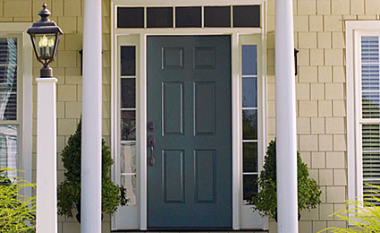 1. New steel front door (source: Thermatru.com)