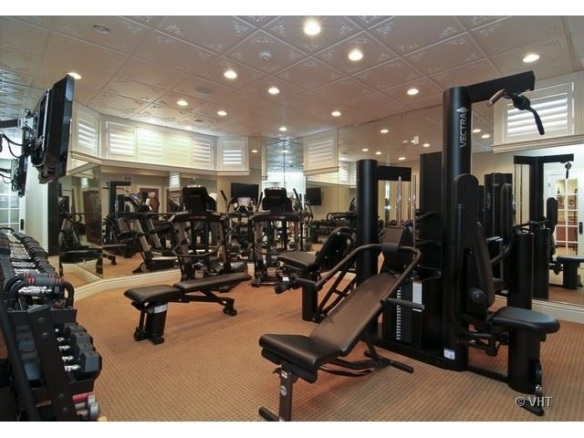 Fitness center/exercise room. Listed by  Dawn McKenna for $3.299M. Hinsdale, IL