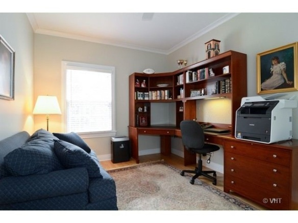 Office space in this Arlington Heights home.  It is currently for sale for $824,900 and listed by The Schwabe Group.
