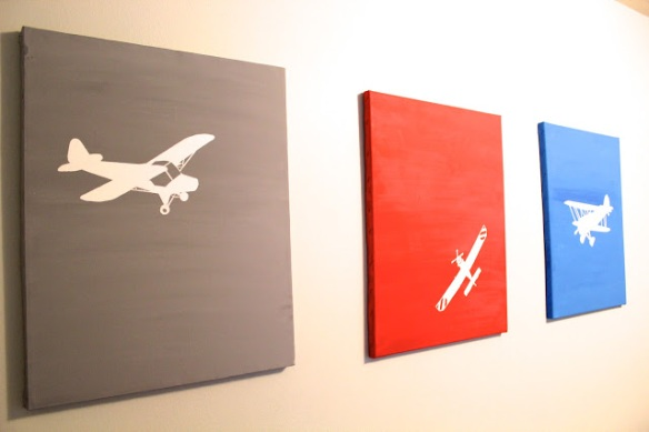 DIY Airplane Paintings via Everything Beautiful