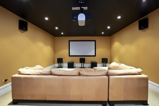 Media room. Listed by Lisa Hassen Field for $2.195M.