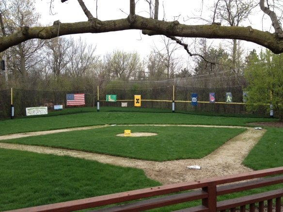 Highland Park home with a baseball diamond.