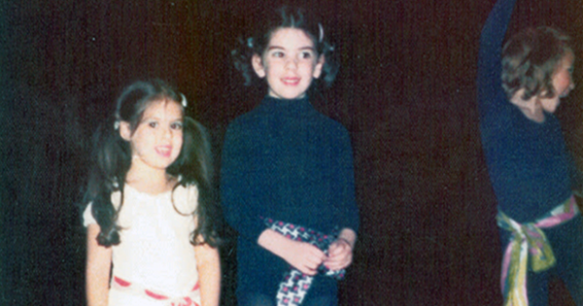 Lana and Barbara at a dance recital.